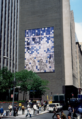 Julie Harvey, Liberty Mural, New York City